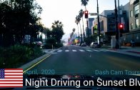 Night Driving from Santa Monica to West Hollywood on Sunset Blvd. Dash Cam Tours 🚘