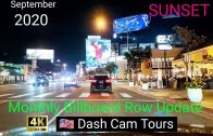 September, 2020 West Hollywood Sunset Strip Monthly Billboard Row Update. Dash Cam Tours 4K